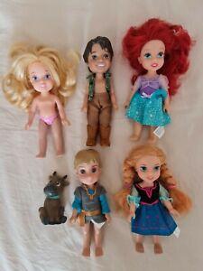 "Disney Petite Mini Dolls Bundle 6"""