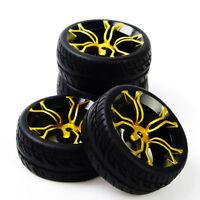 RC 4Pcs Tires Tyre&Wheel Rim MPNKG For HSP HPI 1:10 On-Road Racing Model Car