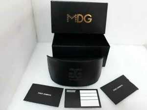 DOLCE & GABBANA D&G Glamour Sunglasses box cover case Authentic Faux leather