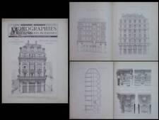 PARIS, 46 RUE ETIENNE MARCEL - 1890 - GRAVURES ARCHITECTURE, LUCIEN MAGNE