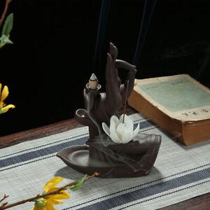 Ceramic Incense Cones Burner Backflow Waterfall Smoke Incense Holder Insence Pot
