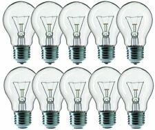 10 x SOLEO Glühbirne 100W E27 100 Watt Birne Leuchtmittel 230V A55 Klar