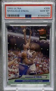 1992 Ultra SHAQUILLE O'NEAL Rookie RC #328 PSA 10