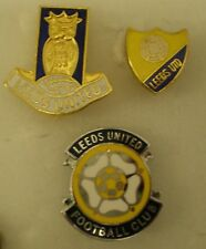 LEEDS UNITED FOOTBALL CLUB Enamel Pin Badges x 3 Lot A1