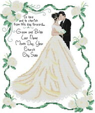 14 count aida needlepoint cross stitch wedding kit with colorful chart R126