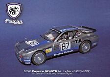 FALCON 02005 PORSCHE 924 GTR BRUNOS 24H LEMANS 1982 NEW 1/32 SLOT CAR IN CASE