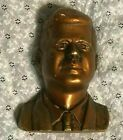 "vintage JOHN F KENNEDY JFK CHALKWARE WALL HANGING BUST (8-3/4"") PRESIDENT BRONZE"