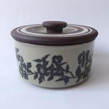 Hornsea Pottery Prelude round lidded butter dish/pot/storage. Vintage Contrast