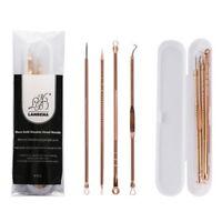 4PCs Acne Needle Blackhead Tweezers Face Skin Care Tools Blackhead Cleanser Tool