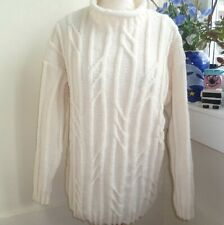 Hand knitted Aran Cream Cable sweater by bexknitwear