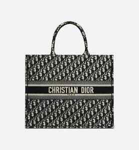 Sac cabas Dior Book Tote en toile monogram noir et velours noir