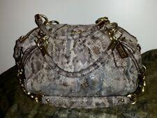 Coach Madison Sophia Python Snakeskin Gold Hardware Leather Satchel
