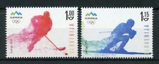Slovenia 2018 MNH Winter Olympics PyeongChang 2v Set Ice Hockey Skiing Stamps