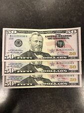$50 Bills 2013 Uncirculated With Extremly Fancy Serial Numbers
