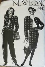 New Look sewing pattern no. 6442 ladies suits and pants size 8-18 unused