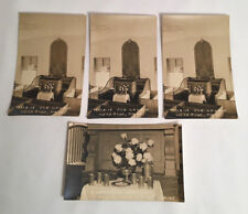 Head Tide ALNA Maine Antique Postcard Lot  Church Interior & Communion Service