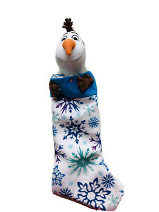 23 In Olaf Frozen Animated Musical White Blue Christmas Stocking