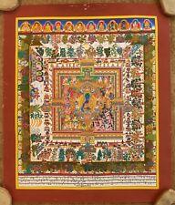 Mandala of Medicine Buddha Thangka(Thanka) 1/76.Choose the Color of the Brocade