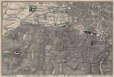 Bolonia alrededores. Certosa. Madonna di San Luca. Santo Michele en Bosco 1906 Mapa