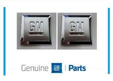 """GM Mark of Excellence 1"""" Square Fender Emblem Badge 15223484 SET OF 2"""