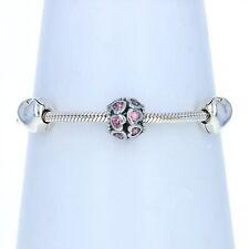 NEW Authentic Pandora From the Heart Ltd Ed Charm Bracelet Gift Set Silver CZs