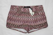 """SARA BOO Boutique Knit Tapestry Shorts Lined BOHO Sz M NWT 3"""" inseam NWT $68 FBB"""