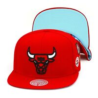 Mitchell & Ness Chicago Bulls Snapback Hat Cap Red/NBA Finals 1998/Blue Bottom