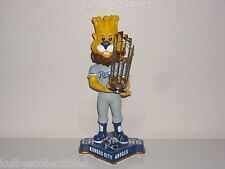 SLUGGER Kansas City Royals Mascot Bobble Head 2015 WS Champs Trophy New* #'d/720