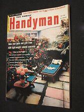 THE FAMILY HANDYMAN MAGAZINE - JULY 1956 - PATIO FURNITURE - COLORED CONCRETE