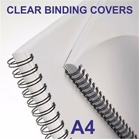 Transparent Clear Cover Comb Wire Binder Machines A4 200 Micron Pack of 100