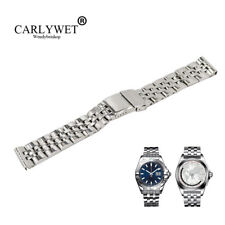 24mm Silver Screw Links Steel REPLACEMENT Wrist Watch Band For BRE AEROSPACE