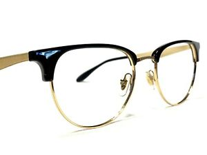 Ray Ban RB6396 5784 Men's Black & Gold Round Modern Rx Eyeglasses Frames 53/19