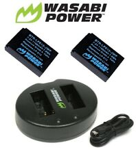 Wasabi Power 1100mAh Battery (2-Pack) & Dual Slots USB Charger for Canon LP-E12