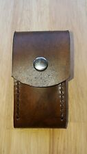 Handmade real leather sheath pouch case holder for folding knife