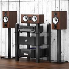 Home Glass HIFI Stand Media Component Shelf Rack TV Cabinet Stand Quality Made
