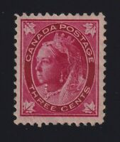 Canada Sc #69 (1898) 3c carmine Maple Leaf Mint VF NH MNH