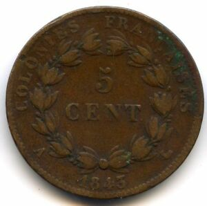 -inseln Marquesas Louis-Philippe 5 Cent 1843 IN Paris Lecompte 311
