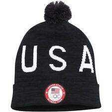 Limited Edition Nike 2018 South Korea Olympic Team USA Cuffed Beanie Pom Hat