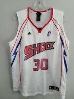 Rare VTG Adidas WNBA Detroit Shock Katie Smith 30 Basketball Jersey Womens L EUC