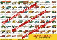 Matchbox Series 1-75 1968 USA Models Large A3 Poster Shop Sign Advert Leaflet