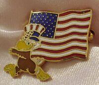 Sam The Eagle American Flag 1984 Olympics Los Angeles Lapel Pin pinback