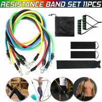 Resistance Band Set Exercise Fitness Tube Workout Bands Strength Training 11Pcs