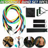 Resistance Band Set Exercise Fitness Tube Workout Bands Strength Training 11Pcs