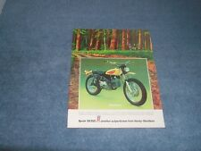 "1972 Harley-Davidson Sprint SX350 Vintage Ad ""Brush Gun"" AMF"