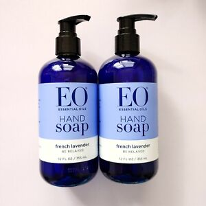 Lot 2 EO Essential Oils Hand Soap French Lavender Be Relaxed 12oz/355ml Each