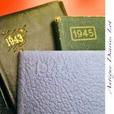 1943 1944 1945 POCKET DIARY MINIATURE CALENDAR ANTIQUE VINTAGE PROTECTORATE WW2