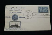 PATRIOTIC COVER 1945 1ST DAY ISSUE NAVY DAY HONORING THE U.S.NAVY CROSBY (5583)