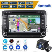 """7"""" Car DVD Player Radio GPS Sat Nav Stereo Reversing Camera For VW Passat Golf"""