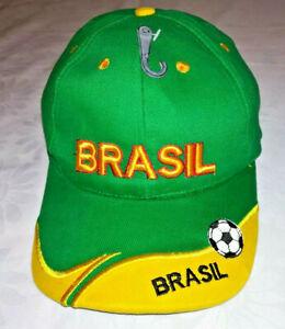 Basecap Cap Fußball Fan Brasilien Brasil WM Grün-Gelb