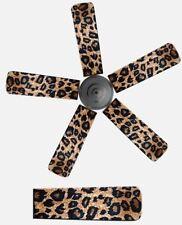Animal Print Leopard Cheetah Home Decor Ceiling Fan Blade Dust Cover